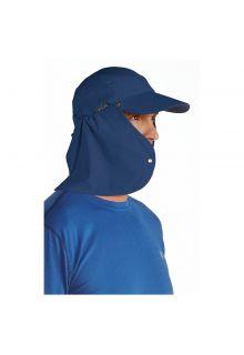 Coolibar---UV-zonnepet-voor-heren-met-nekflap---Navy-blauw