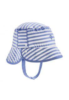 Coolibar---UV-Bucket-Hoed-voor-baby's---Linden---Blauw/Wit