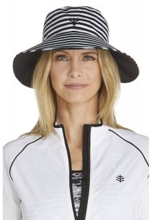 Coolibar---UV-omkeerbare-zwemhoed-voor-dames---Zwart-/-Wit