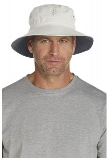 Coolibar---UV-omkeerbare-hoed-voor-heren---Lichtbeige-/-Grijs