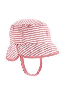 Coolibar---UV-Bucket-Hoed-voor-baby's---Linden---Roze/Wit