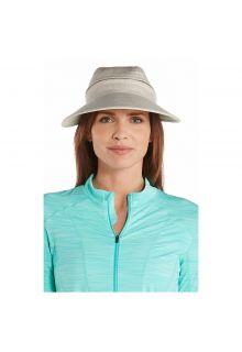 Coolibar---Afritsbare-UV-zonneklep-voor-dames---Visgraat-naturel