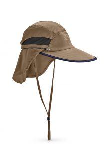 Coolibar---Universele-UV-Hengelsportpet-voor-heren---Calec---Khaki/Navy