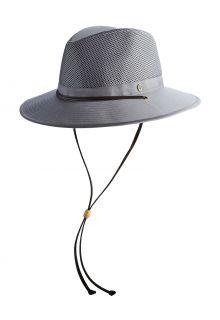 Coolibar---Pletbare-geventileerde-UV-Hoed-voor-heren---Kaden---Rookgrijs