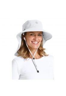 Coolibar---UV-zonnehoed-voor-dames-met-gezichtsmasker---Wit