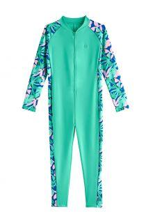 Coolibar---UV-Zwempak-voor-meisjes---Barracuda-van-nek-tot-enkel---Zeemunt