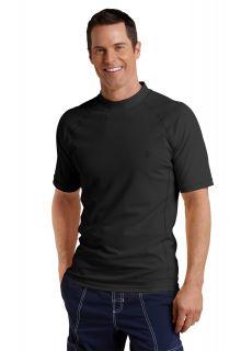 Coolibar---UV-zwemshirt-korte-mouwen-heren---Zwart