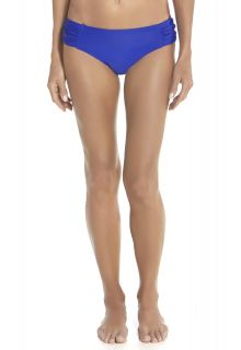 Coolibar---Dames-Ruche-zwem-Bikini-broekje---Baja-Blauw