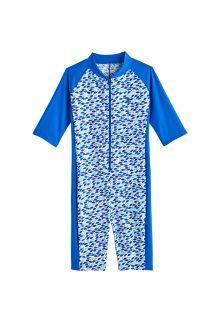 Coolibar---UV-Zwempak-voor-jongens---Barracuda-van-nek-tot-knie---Marlijnblauw