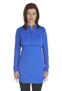 Coolibar---UV-zwemshirt-dames---Kobalt-blauw