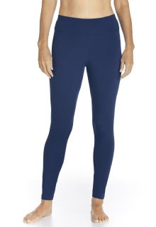 Coolibar---UV-Zwemlegging-voor-dames---Deep-Water---Navy