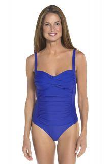Coolibar---Dames-Ruche-bandeau-UV-badpak---Baja-Blauw