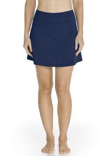 Coolibar---UV-Zwemrokje-dames---Donkerblauw