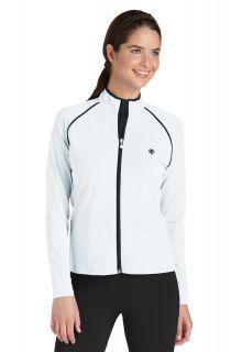 Coolibar---UV-zwemjas-voor-dames---wit-/-zwart