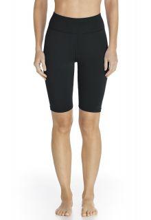Coolibar---UV-zwem-/-sport-legging-kort-dames---zwart