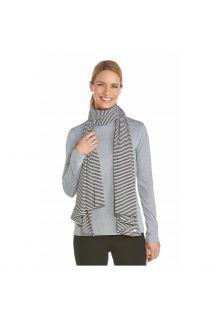 Coolibar---UV-sjaal---Zwart-wit-gestreept