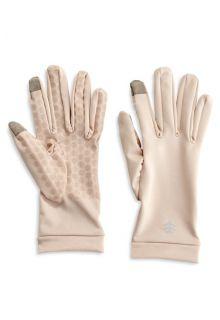 Coolibar---UV-handschoenen-met-touch-compatibiliteit---Beige