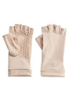 Coolibar---UV-vingerloze-handschoenen---Beige