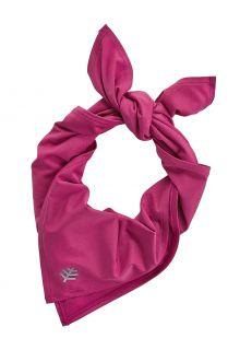 Coolibar---UV-werende-sportbandana-voor-volwassenen---Virasana---Rabarber