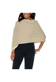 Coolibar---UV-omkeerbare-sjaal---crème/zwart-gestreept
