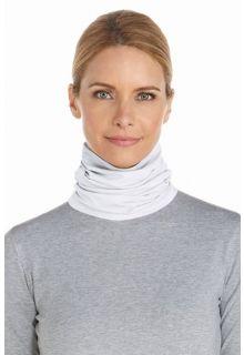 Coolibar---UV-col-met-nekbescherming---Wit