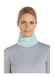 Coolibar---UV-werende-nekflap-voor-volwassenen---La-Plata---Lichtblauw
