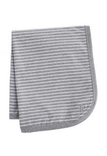 Coolibar---UV-werende-zonnedeken-voor-baby's---Batiboe---Grijs/Wit