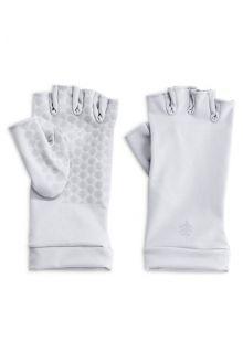 Coolibar---UV-vingerloze-handschoenen---Wit