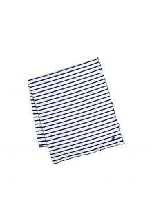 Coolibar---UV-deken-voor-dames,-heren,-kinderen,-baby's---navy/wit-gestreept