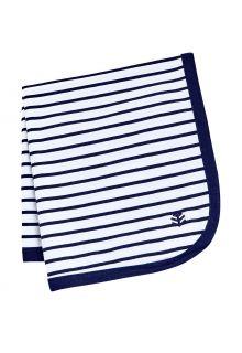 Coolibar---UV-werende-zonnedeken-voor-baby's---Batibou---Wit/Navy