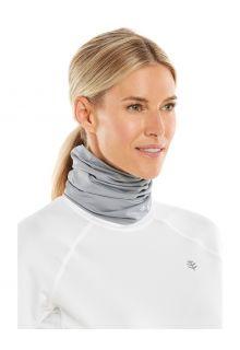 Coolibar---UV-werende-nekflap-voor-volwassenen---La-Plata---Kiezelgrijs