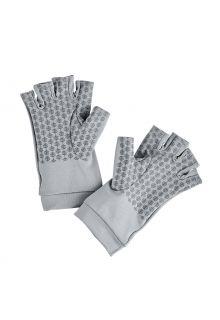 Coolibar---UV-werende-vingerloze-handschoenen-voor-volwassenen---Ouray---Kiezelgrijs