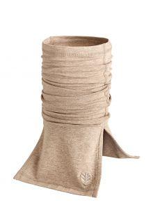 Coolibar---UV-werende-halsbescherming-voor-volwassenen---Key-West---Donker-Taupe