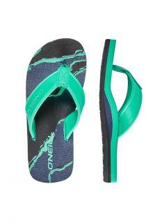 O'Neill---Slippers-voor-jongens---Arch-Print---Donkerblauw/Geel