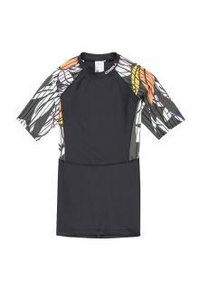 O'Neill---UV-shirt-met-korte-mouwen-voor-dames---Extra-lang---Mix---Zwart/Groen