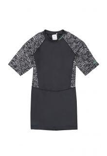 O'Neill---UV-shirt-met-korte-mouwen-voor-dames---Extra-lang---Mix---Zwart