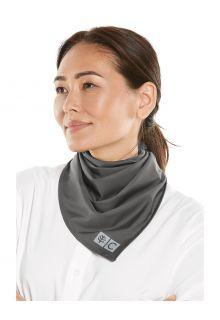 Coolibar---UV-werende-bandana-voor-volwassenen---Abacos-Aqua---Rookgrijs