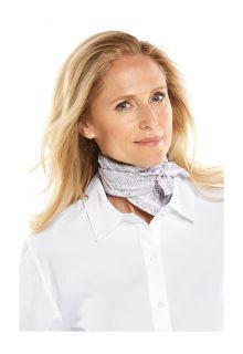 Coolibar---UV-werende-bandana-voor-volwassenen---Mackinac---Grijs/Wit