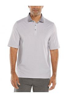 Coolibar---UV-Sport-Polo-voor-heren---Erodym-Golf---Wit/Grijs-met-patroon