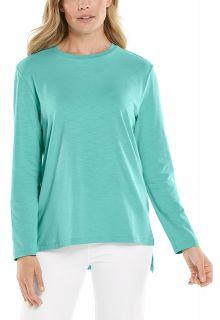 Coolibar---UV-Shirt-voor-dames---Carington-Tee---Helder-Aqua