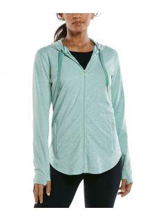Coolibar---UV-werende-Full-zip-hoodie-voor-dames---LumaLeo-Zip-Up---Saliegroen