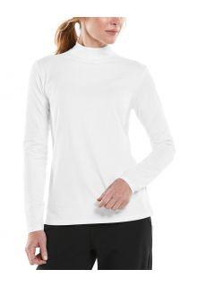 Coolibar---UV-Longsleeve-shirt-met-col-voor-dames---Islandia---Wit