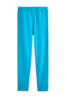 Coolibar---UV-Leggings-voor-kinderen---Monterey---Turquoise