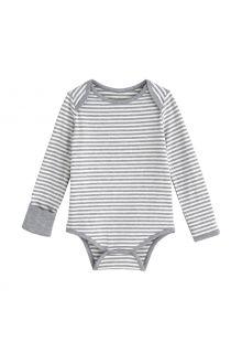 Coolibar---UV-werende-romper-voor-baby's---LumaLeo-Bodysuit---Grijs/Wit