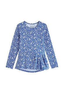 Coolibar---UV-Shirt-voor-meisjes---Longsleeve---Aphelion-Tee---True-Blue-Floral