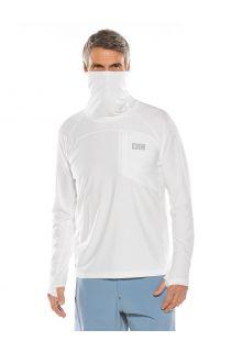 Coolibar---UV-Zwemshirt-met-halsbescherming-voor-heren---Andros---Wit