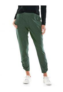Coolibar---Casual-UV-broek-voor-dames---Café-Ruche---Olijfgroen