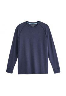 Coolibar---UV-Shirt-voor-heren---Longsleeve---LumaLeo---Indigo