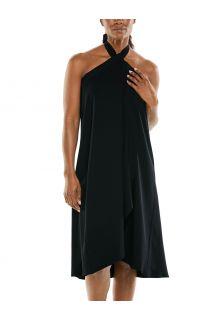 Coolibar---Multifunctionle-UV-werende-wikkeljurk-voor-dames---Isla---Zwart