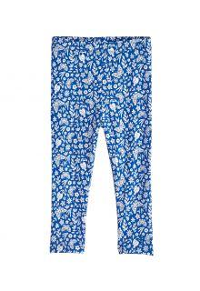 Coolibar---UV-Leggings-voor-peuters---Monterey---Blauw/Bloemen